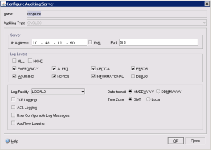 Netscaler - Configure Audit Server